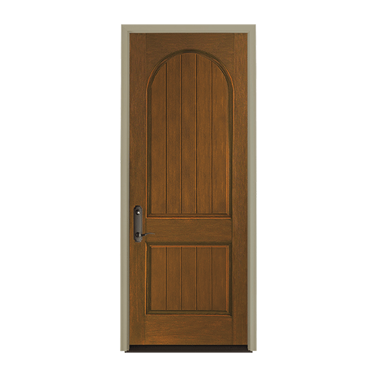 Architect Series Plank 2 Panel Curve Entry Door Solid Panel